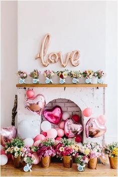 Are you going to have a party on Valentine's Day? if yup, here are Valentine's Party Decorations Ideas for you. Almost inseparable colors for parties on Valentine&… My Funny Valentine, Valentines Day Party, Valentines Day Decorations, Birthday Decorations, Diy Valentine, Balloon Decorations, Valentine Baby Shower, Valentine Flowers, Office Decorations
