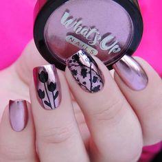 Rose Chrome Powder For Mirror Nails | Etsy Polish Words, Chrome Powder, Mirror Nails, Floral Nail Art, Stamping Plates, Nail Stamping, Beautiful Nail Designs, Nail Decorations, Us Nails