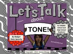Are you looking for social skills materials on sarcasm, emotional tone and/or ELA materials on teaching formal and informal tone?  Are you wanting appropriate materials for middle and high school students?  Are you hoping that pictures depicting emotional tone are real photographs?