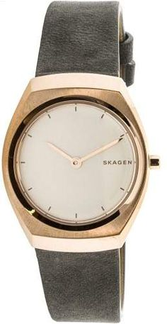 Skagen Women's Asta SKW2652 Rose-Gold Leather Japanese Quartz Fashion Watch