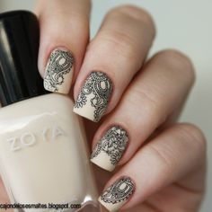 Zoya Jacqueline - Water decals  | Check out http://www.nailsinspiration.com for more inspiration!