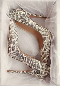 Jimmy Choo wedding shoes. Would you wear these on your special day? #weddingshoes