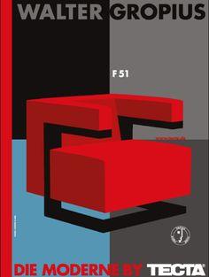 By Gunter Rambow, Poster Walter Gropius F51, TECTA. (G)