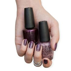 Layer #RichAndBrazillian with #ChampagneForBreakfast for a shimmery winter mani!