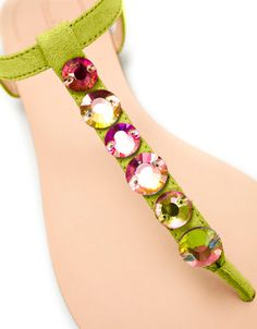 SANDAL WITH RHINESTONES - Shoes - TRF - ZARA United States