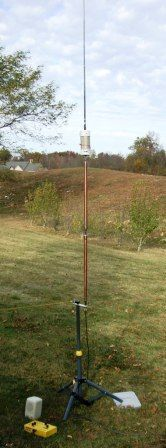 Portable Vertical Antenna home made buddistick