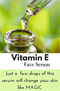 Skin Care Remedies diy vitamin e face serum that works great on your skin Beauty Care, Beauty Skin, Beauty Tips, Diy Beauty, Face Beauty, Beauty Ideas, Beauty Secrets, Vitamin E, Vitamin C Pulver