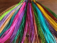 Feather Hair Extensions You Pick 3 Colorful rainbow feathers Largest Color Selection On Etsy Long Hair feather extension salon Plumes on Etsy, $6.50