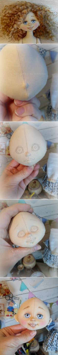 Come fare una bambola faccia tessile tridimensionale - Fiera Masters - artigianale, fatto a mano