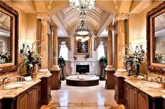 Trendy Home Design Luxury Master Bathrooms 43 Ideas Luxury Master Bathrooms, Bathroom Design Luxury, Dream Bathrooms, Beautiful Bathrooms, Mansion Bathrooms, Dream Home Design, My Dream Home, Home Interior Design, House Design
