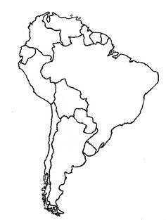 Mapa De America Del Sur En Pinterest