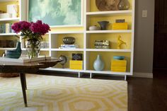 Yellow / Teal Living Room