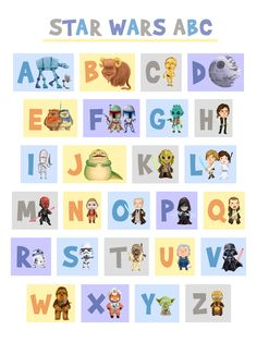 ABC's of the Force sold by art of chrissyhehehe. Shop more products from art of chrissyhehehe on Storenvy, the home of independent small businesses all over the world. Star Wars Kids, Star Wars Baby, Lego Star Wars, Pirate Preschool, Star Wars Classroom, Star Wars Nursery, Baby Blessing, Baby Planning, Space Theme
