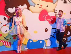 This adorable couple had it going on. | 24 Photos Of The Wildest And Most Wonderful Fashion From The Hello Kitty Festival