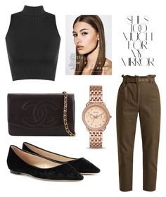 """Untitled #70"" by stinebf on Polyvore featuring FOSSIL, WearAll, Isa Arfen, Jimmy Choo, Chanel and Rika"