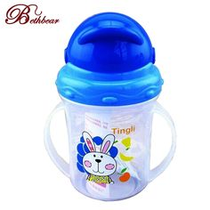 Baby straw cup drinking sippy with handles cute design feeding bottle pp plastic sgs | worth buying on AliExpress