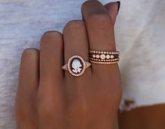 14kt rose gold and diamond one of a kind rose cameo ring – Luna Skye