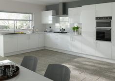 Lewes High Gloss White Kitchen Doors from Kitchen Door Workshop