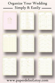 these planner printables include a wedding checklist a comprehensive timeline