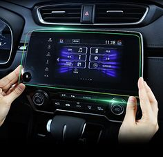 Honda CRV Car Navigation Screen Protector,Gycinda Honda CRV EX EX-L Touring 2017 Touch Screen Protector , 9H Stronger Resistance Toughened Glass Film. For product info go to:  https://www.caraccessoriesonlinemarket.com/honda-crv-car-navigation-screen-protectorgycinda-honda-crv-ex-ex-l-touring-2017-touch-screen-protector-9h-stronger-resistance-toughened-glass-film/