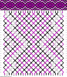 26 strings 26 rows 4 colors macrame with pattern
