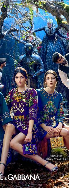 Note use of bold jewel tones here ~Dolce & Gabbana Winter ad 2015 | The House of Beccaria