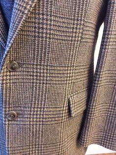 Orvis Houndstooth Tweed Brown 100 Wool Sport Coat Blazer Mens 40 R Jacket | eBay