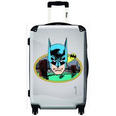 iKase Batman Comics Portrait Vintage 24-inch Fashion Hardside Spinner Upright Suitcase