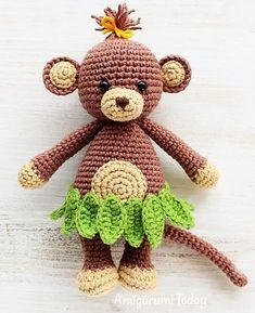 Cuddle Me Monkey - free crochet Pattern and Photo tutorial