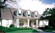 4 bedroom one level home with careful design including a back covered patio in this luxury home.  House Plan # 331012.