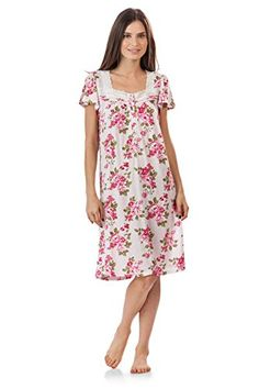de122943dc Casual Nights Womens Lightweight Flowers Lace Cap Sleeves Nightgown  FlowerPink XXLarge -- Read more at