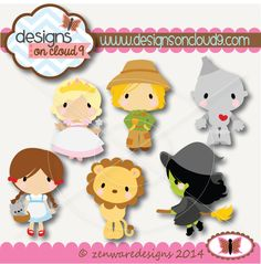 Designs on Cloud 9 Emerald City Friends SVG and cutting files
