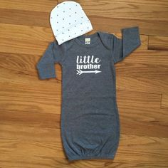 Little brother baby gown Baby boy coming home outfit by GigiandMax