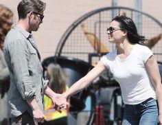 Sean Maguire & Lana Parrilla on set (July 17, 2015)