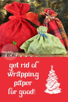 REUSABLE Wrapping Bags – Natural Alternative to Wrapping Paper! | Healing For Real