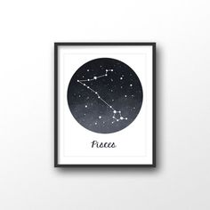 Pisces print  Astrology sign  Pisces print  by kiwiNberries