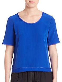 Elie Tahari Mabelle Blouse - Waterfall - Size
