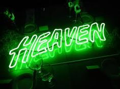 Heaven Green Neon Sign Aesthetic Nights Glow Words
