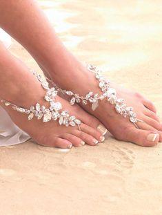 Chunky Crystal Barefoot Sandal
