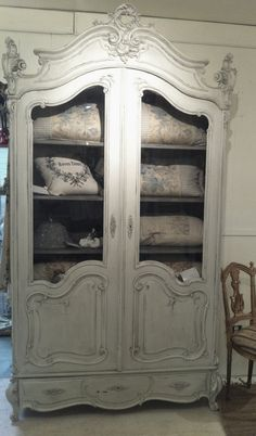 GREY ARMOIRE what I would do for this!