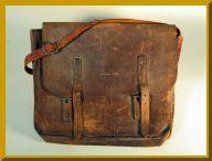 An old leather bookbag