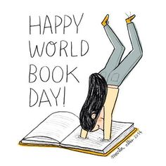 Today is world book day! Girls Life, Happy Day, Book Worms, Books To Read, Reading, Illustrations, Poster, Libros, Illustrators