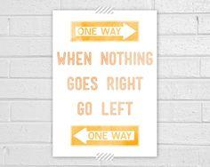 … go left