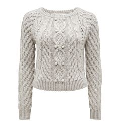 Cleo Cable Sweater Iced Grey - Womens Fashion | Forever New
