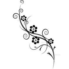 Black and White Flourish Decorations Flourish Flowers Foliage Clip Art Clipart Engagement Bridal Shower Wedding Scrapbook Supplies 10085 Side Tattoos Women, Tattoos For Women Half Sleeve, Back Tattoo Women, Sleeve Tattoos, Flower Vine Tattoos, Tribal Flower Tattoos, Tribal Images, Art Images, Lilly Tattoo Design