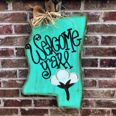 This Mississippi door hanger is made with 1/4 wood. Measures 24 (not including wire, wire will add a couple of inches) and comes ready to