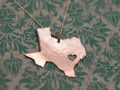 I heart Texas Necklace #etsy