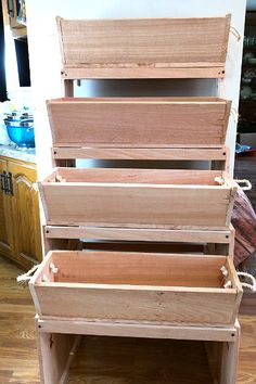 Roped on Cedar Quad-Level Plant Stand and Raised Bed Garden System: a Review and Give Away! - Busy-at-Home