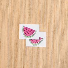 Watermelon Slice Tattoos from Tattly. Yum!