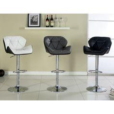 Furniture of America Dimone Modern Adjustable Swivel Bar Stool